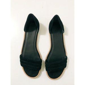 Velvet Flat Sandals